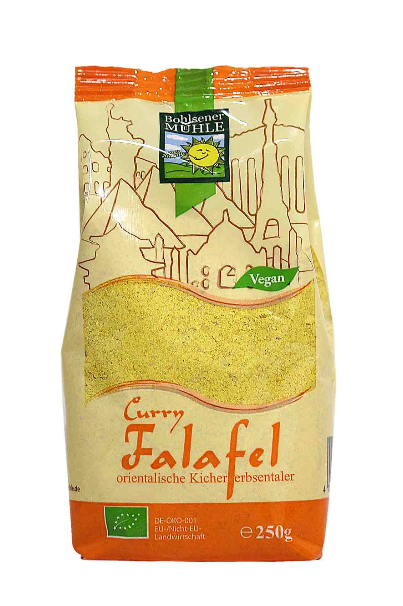 Curry falafel
