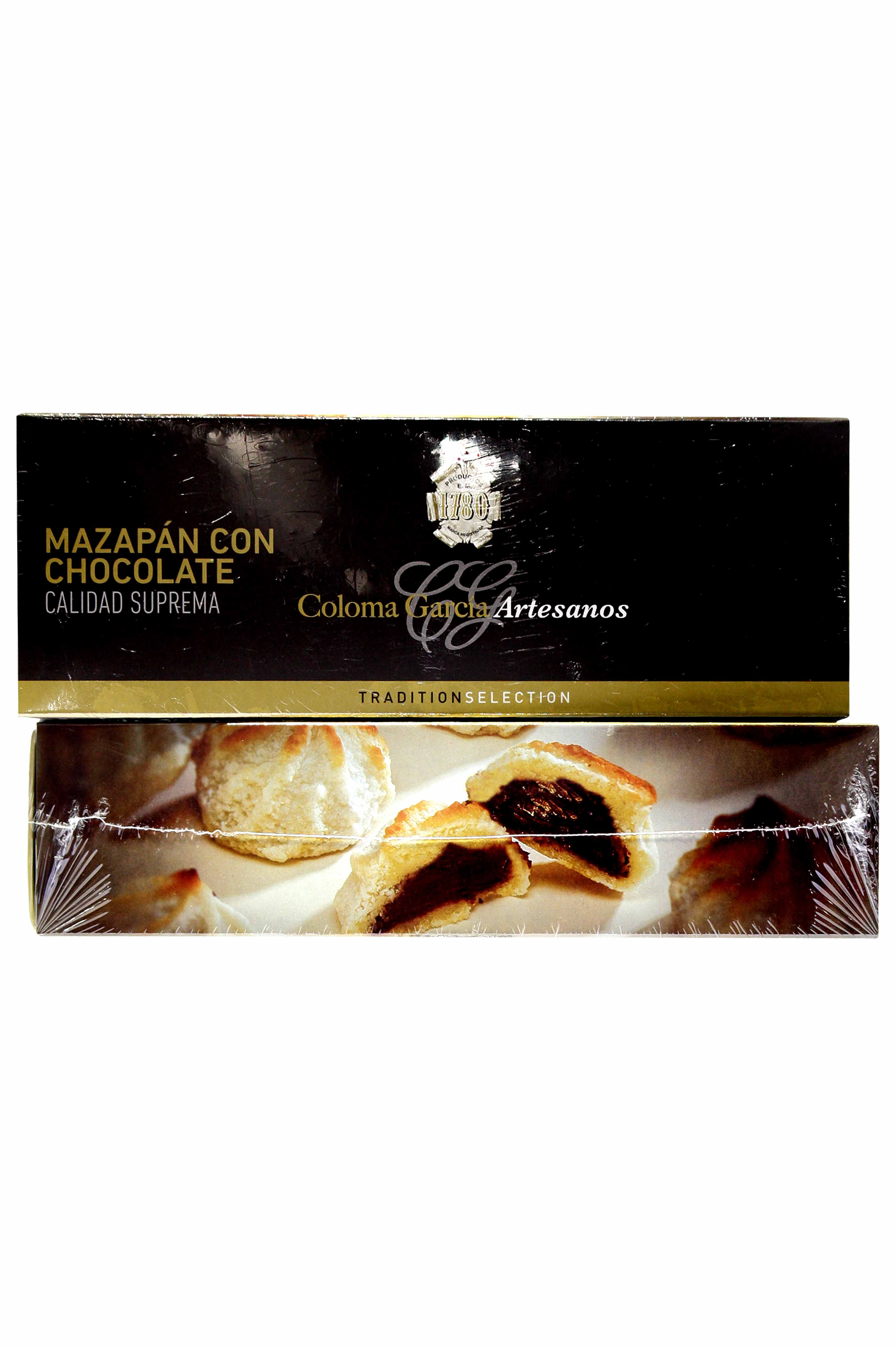 Mazapán con chocolate