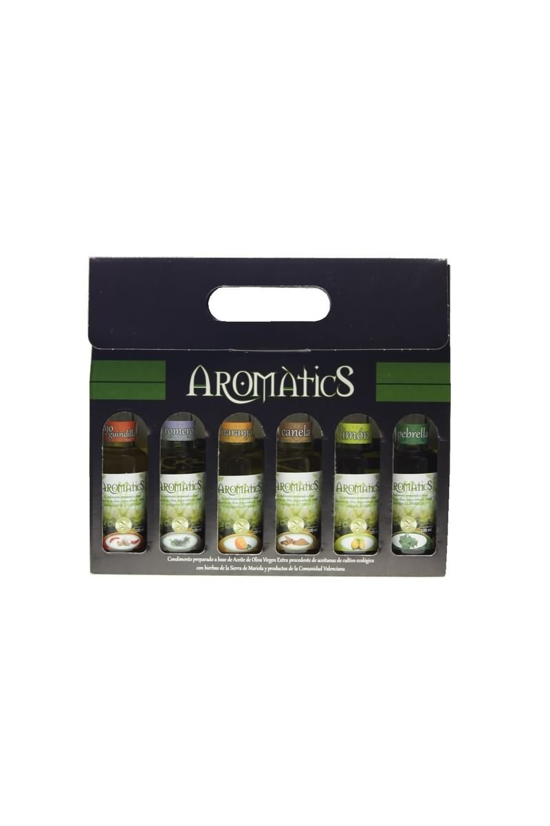 Pack of six flavoured oils